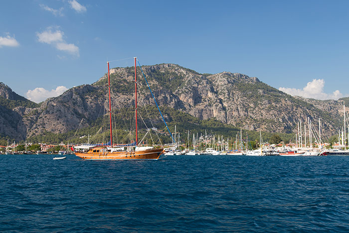 Gocek Town from sea