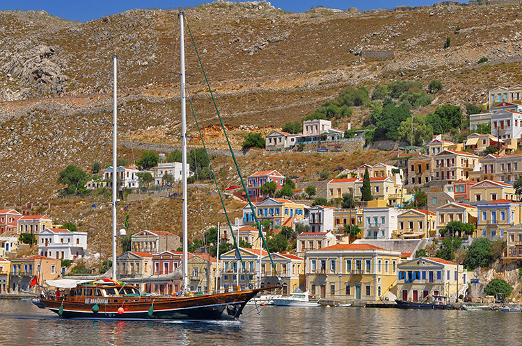 Turkish gulet cruising in Symi Island