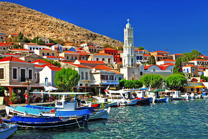 Halki,small island of Dodecanese, Greece