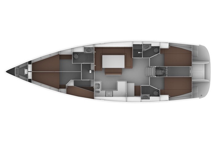 Bavaria 50 Cruiser Layout