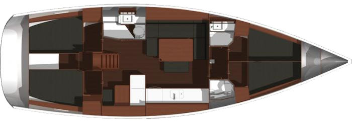Dufour 445 GL Layout